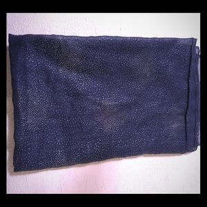Blue infinity scarf w/ shimmery accents